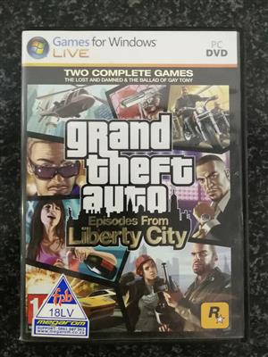 Grand Theft Auto Episodes From Liberty City For PC DVD. Windows Live Edition.