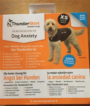 ThunderShirt Dog Anxiety Vest XS Size Solid grey brand new R499.00