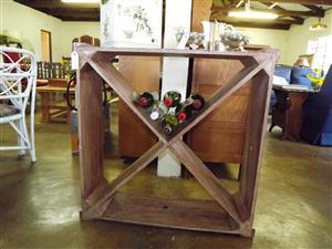 Eye-catching wooden wine rack