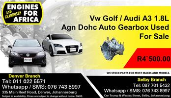 Vw Golf / Audi A3 1.8L Agn Dohc Auto Gearbox Used For Sale