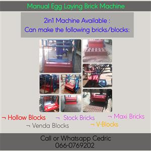 2in1 Manual Egg Laying Brick Machine