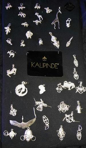 .999 Silver Kalipinde Pendants from Zambia. (Jewellery)
