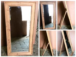 Mirror Farmhouse series 1380 with stand Stained
