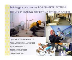 Boilermaker training,Plumbing,Carpentry,Welding & fitter & turner. 0733862925