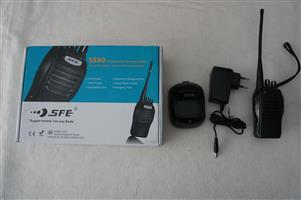 SFE S580 Rugged-Reliable Two-Way Radios (1x UNUSED & 1 x USED)