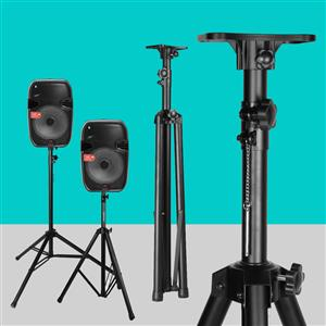 Heavy Duty TriPod Speaker Stand: Telescoping Adjustable In Black Colour.  Brand New Products.