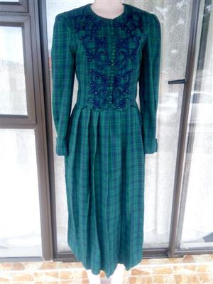 Green dress with blue sequence
