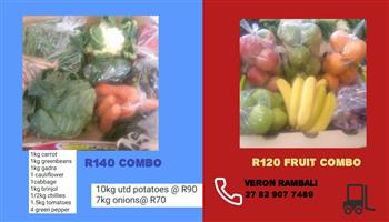 Fruit and vegetables combos available