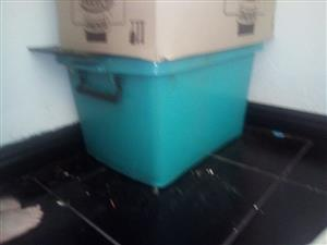 Large green storage container