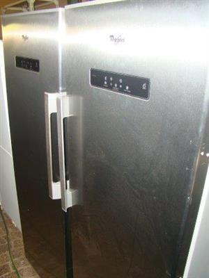 Whirlpool Fridge and Freezer set (silver) Fridge 376L Freezer 246L