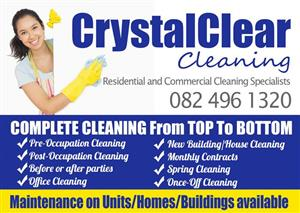 Residential and Commercial cleaning done the right way! Call the professionals