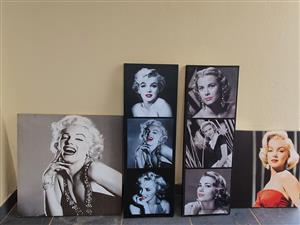 4 x Marilyn Monroe  canvas pictures