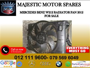 Mercedes benz W212 radiator fan for sale