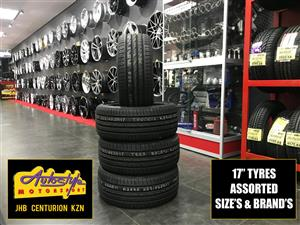 Tyres brand new 17 inch 205 40 17 from R620