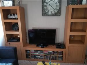3 piece solid wood TV cabinet