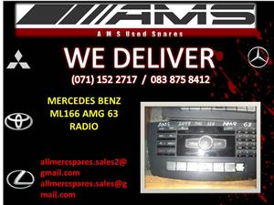 MERCEDES BENZ ML166 AMG 63 RADIO FOR SALE