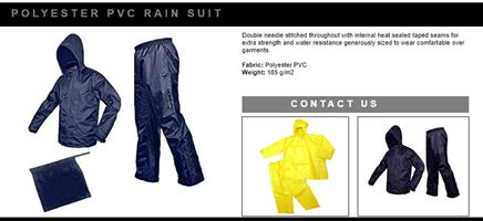 RAIN SUIT ,COAT AND PONCHO