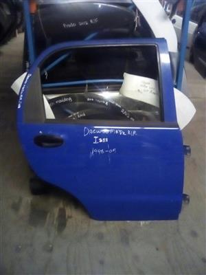 Daewoo Matiz 1998 to 2005 RR blue door for sale.