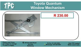 Toyota Quantum Window Mechanism For Sale.