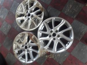 "17"" Mazda mag wheels  for sale"