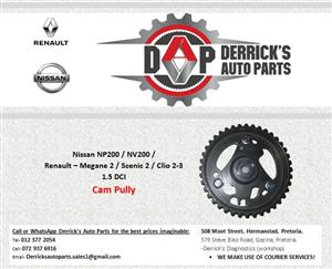 NISSAN NP200 NV200 / RENAULT - MEGANE 2 / SCENIC 2 / CLIO 2 & 3 1.5 DCI CAM PULLY FOR SALE