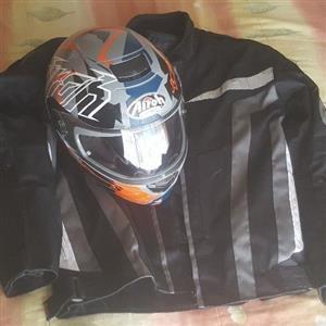 Biker jacket and helmet combo