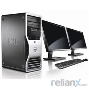 "Dell Precision T3500 - Intel Xeon 2.2Ghz / 8GB Memory / 500GB HDD / 1GB GPU / 2 x 22"" LCD / Tower"