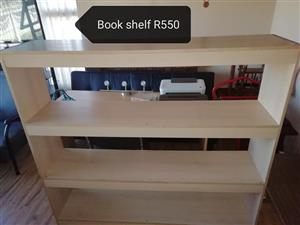 White 4 Tier bookshelf for sale