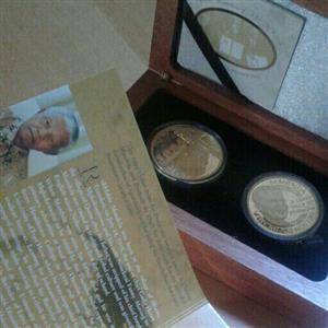 1x Nobel Legends Gold Set + 1× Mandela Silver Medallion 2004 for sale  Pretoria - Pretoria East