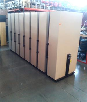 8 Bay bulk filer with shelves