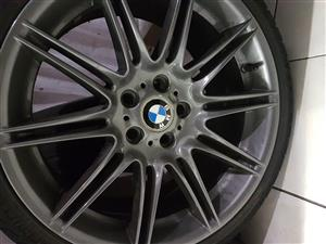 Bmw mag rims and tyres,19 inch,good tyres