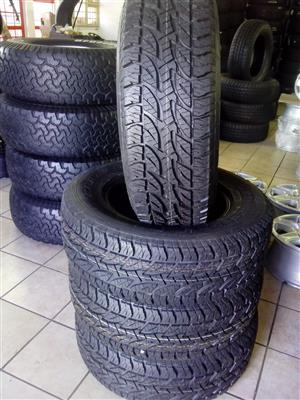 265/65/17 Bridgestone dueller a/t 694 R6999 x4 new tyres with free fitment.