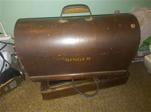 antique singer sewing machine manual and foot electric priced to go 1000