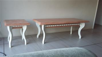 Coffee table and matching side tables
