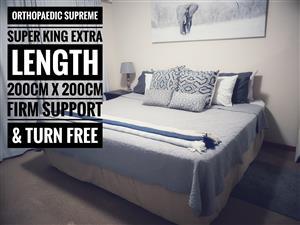 Orthopaedic Supreme, Super King Extra Length (200cm x 200cm) Bed Set