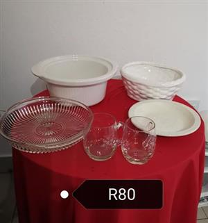 Glass dishes combo for sale