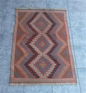 Handwoven vintage wool kelim/ kilim rug