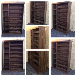 Liquor and wine cabinet Farmhouse series 2000 version 1 - Stained