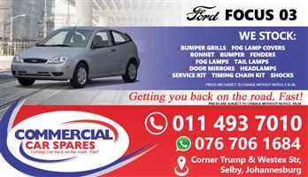New Ford Focus 03- Body Parts And Spares For Sale At Car Spares