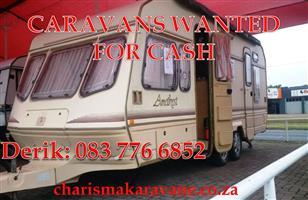 CASH for your secondhand CARAVANS
