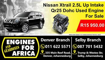 Nissan Xtrail 2.5L Qr25 Up Intake Engine Used For Sale