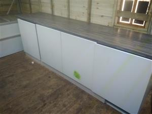 Kitchen counter and bottom cupboard
