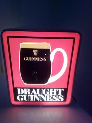 Guinness Illuminated Bar Light - Original 1970's Retro
