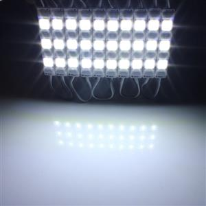 LED Light Modules: Waterproof Square Injection Moulded in Cool White Colour. 12Volts.