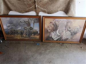 Framed elephant paintings for sale