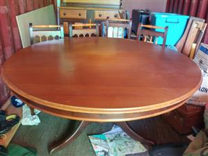 Buffet and round table with 6 chairs.