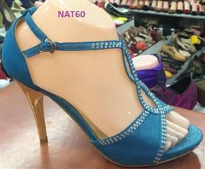 Blue studded high heels for sale