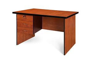 Office desk shell with 3 drawers pedestal Cherry!