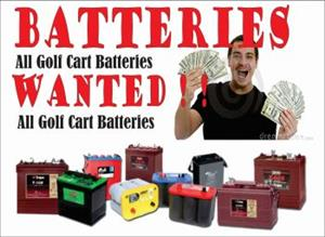 Golf Cart Batteries Wanted