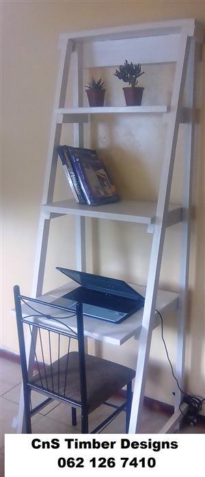 Ladder wall desk unit